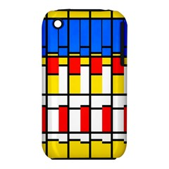 Colorful rectangles pattern Apple iPhone 3G/3GS Hardshell Case (PC+Silicone)
