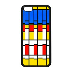 Colorful rectangles pattern Apple iPhone 5C Seamless Case (Black)