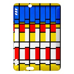 Colorful rectangles pattern Kindle Fire HDX Hardshell Case
