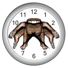 Fantasty Dark Alien Monster Wall Clock (silver)