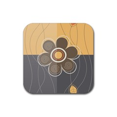 Floral Design Drink Coaster (square)