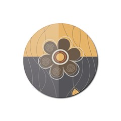 Floral Design Drink Coasters 4 Pack (round)