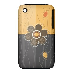 Floral Design Apple Iphone 3g/3gs Hardshell Case (pc+silicone)