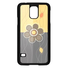 Floral Design Samsung Galaxy S5 Case (Black)