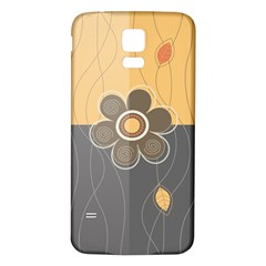 Floral Design Samsung Galaxy S5 Back Case (White)