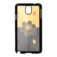 Floral Design Samsung Galaxy Note 3 Neo Hardshell Case (Black)