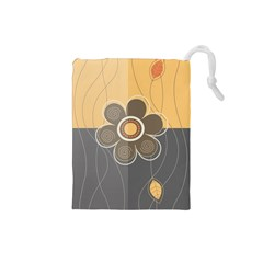 Floral Design Drawstring Pouch (Small)