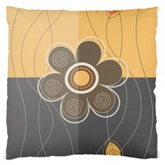 Floral Design Standard Flano Cushion Case (One Side)