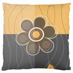 Floral Design Large Flano Cushion Case (two Sides)