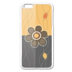 Floral Design Apple iPhone 6 Plus Enamel White Case