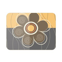 Floral Design Double Sided Flano Blanket (Mini)
