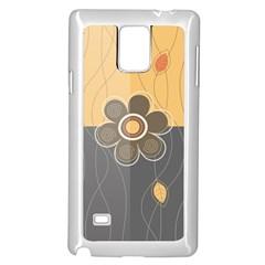 Floral Design Samsung Galaxy Note 4 Case (White)