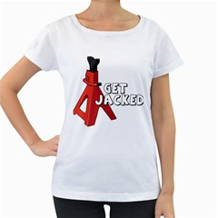 Get Jacked Women s Loose-Fit T-Shirt (White)