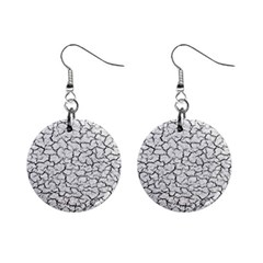 Cracked Abstract Print Texture Mini Button Earrings