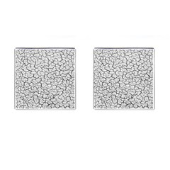 Cracked Abstract Print Texture Cufflinks (square)