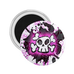 Cartoon Skull  2 25  Button Magnet