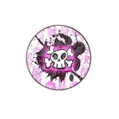 Cartoon Skull  Golf Ball Marker 4 Pack (for Hat Clip)
