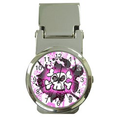 Cartoon Skull  Money Clip With Watch