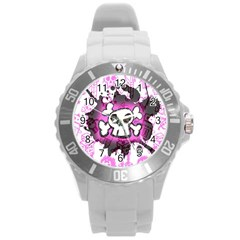 Cartoon Skull  Plastic Sport Watch (large)