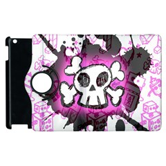 Cartoon Skull  Apple Ipad 2 Flip 360 Case
