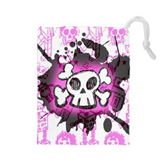 Cartoon Skull  Drawstring Pouch (Large)