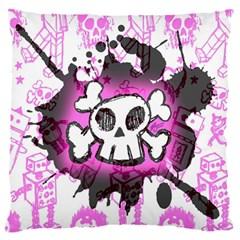 Cartoon Skull  Standard Flano Cushion Case (one Side)