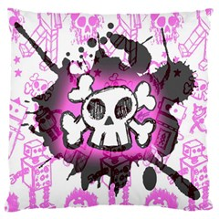 Cartoon Skull  Standard Flano Cushion Case (Two Sides)