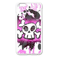 Cartoon Skull  Apple iPhone 6 Plus Enamel White Case