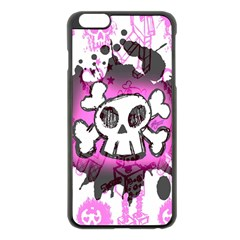 Cartoon Skull  Apple Iphone 6 Plus Black Enamel Case