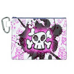 Cartoon Skull  Canvas Cosmetic Bag (XL)