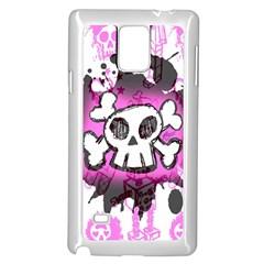 Cartoon Skull  Samsung Galaxy Note 4 Case (white)