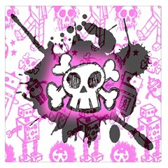 Cartoon Skull  Large Satin Scarf (Square)