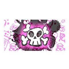 Cartoon Skull  Satin Wrap