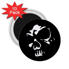 Gothic Skull 2 25  Button Magnet (10 Pack)