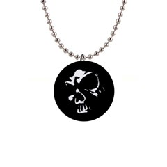 Gothic Skull Button Necklace