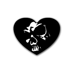 Gothic Skull Drink Coasters (heart)