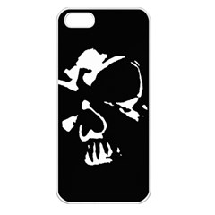 Gothic Skull Apple Iphone 5 Seamless Case (white)