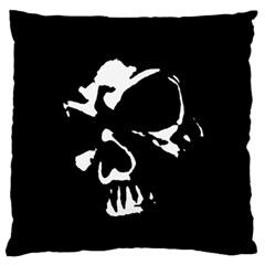 Gothic Skull Large Flano Cushion Case (Two Sides)
