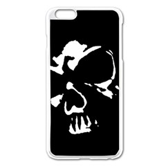 Gothic Skull Apple iPhone 6 Plus Enamel White Case