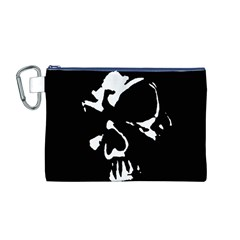 Gothic Skull Canvas Cosmetic Bag (Medium)