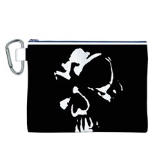 Gothic Skull Canvas Cosmetic Bag (Large)