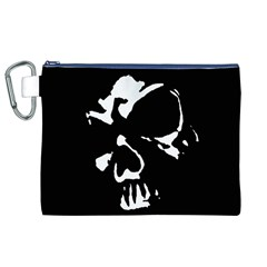 Gothic Skull Canvas Cosmetic Bag (XL)