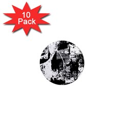Grunge Skull 1  Mini Button Magnet (10 Pack)