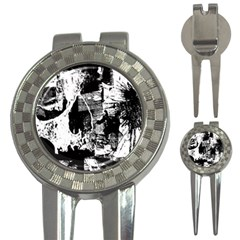 Grunge Skull Golf Pitchfork & Ball Marker