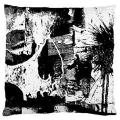 Grunge Skull Large Flano Cushion Case (One Side)