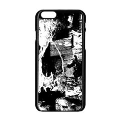 Grunge Skull Apple iPhone 6 Black Enamel Case