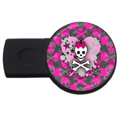 Princess Skull Heart 4gb Usb Flash Drive (round)