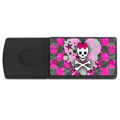 Princess Skull Heart 4gb Usb Flash Drive (rectangle)