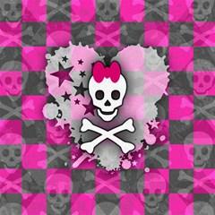 Princess Skull Heart Canvas 16  X 16  (unframed)