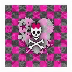 Princess Skull Heart Glasses Cloth (medium, Two Sided)